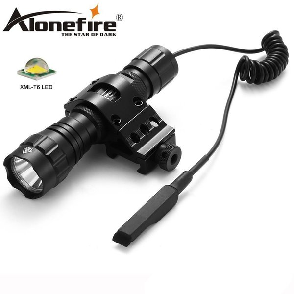 AloneFire 501Bs CREE XML-T6 LED Tactical Flashlight Torch Outdoor Light Tactical Mount Remote Switch for camping Hunting