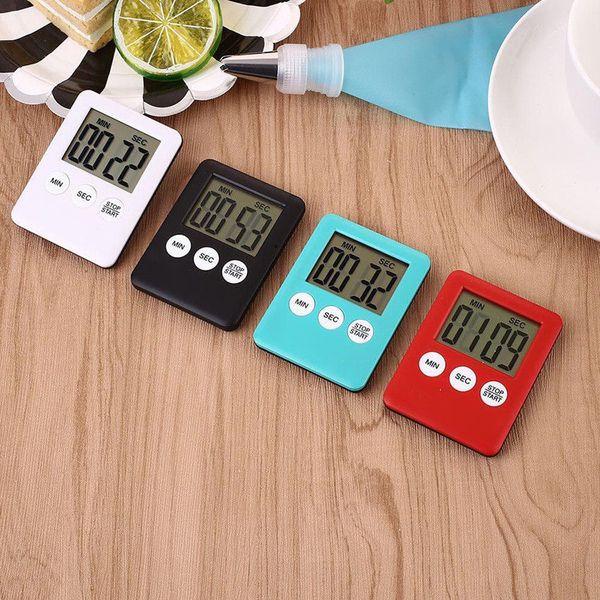 Büyük LCD Dijital Mutfak Pişirme Zamanlayıcı Count-Aşağı Yukarı Saat Alarm Manyetik Sıcak