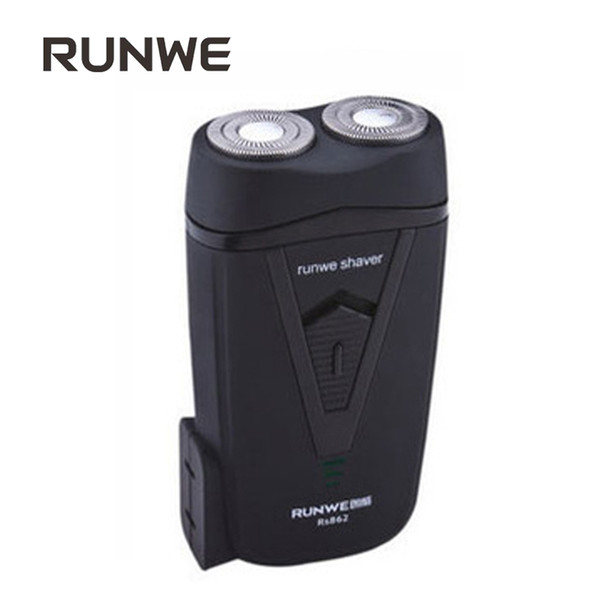 Runwe Rechargeable Electric Both Work Razor For Men Electric Shavers Mini Black Face Care Shaving Machine Portable Rasior RS862