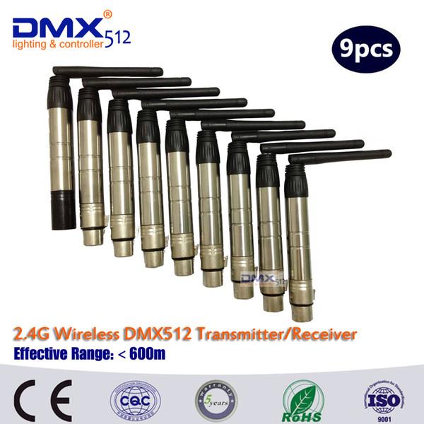 Regolatore senza fili libero di DMX512 di trasporto libero del DHL per la luce della fase della barra del punto / Roating del prisma della luce del punto della testa mobile