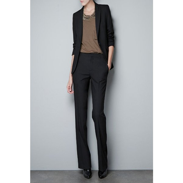 New quality Slim women's Black Formal work wear OL pants suit Business Work Wear cool Suits Women Pant Suits Jacket+Pants