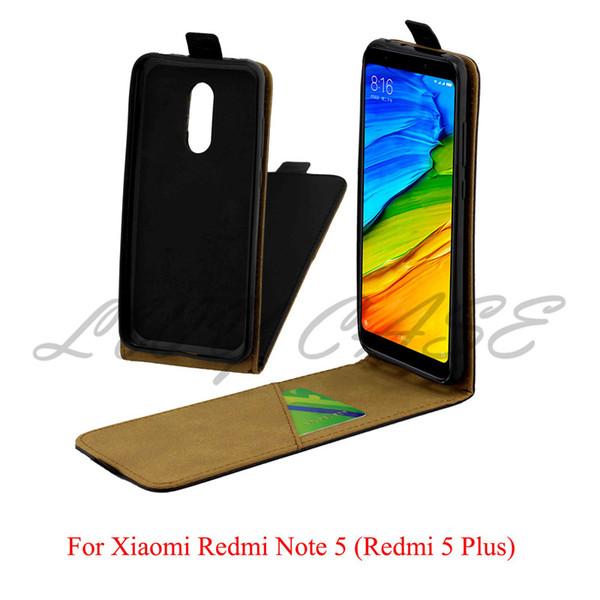 Pour Xiaomi Redmi Note 5 Inde Version Xiaomi Redmi 5 Plus Vertical Flip PU Étui En Cuir Portefeuille Téléphone Sacs Couverture
