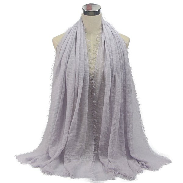 Trendy Cotton Linen Women's Hijabs Female Muslim Hijabs Fashion Daily Solid Headscarf Simple Soft Ladies Plain Head Scarf