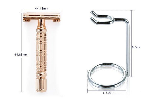 BAILI Chrome Alloy Butterfly Open Head Manual Barber Double Edge Blade Shaving Safety Razor Set High-end Gift Box Packaging