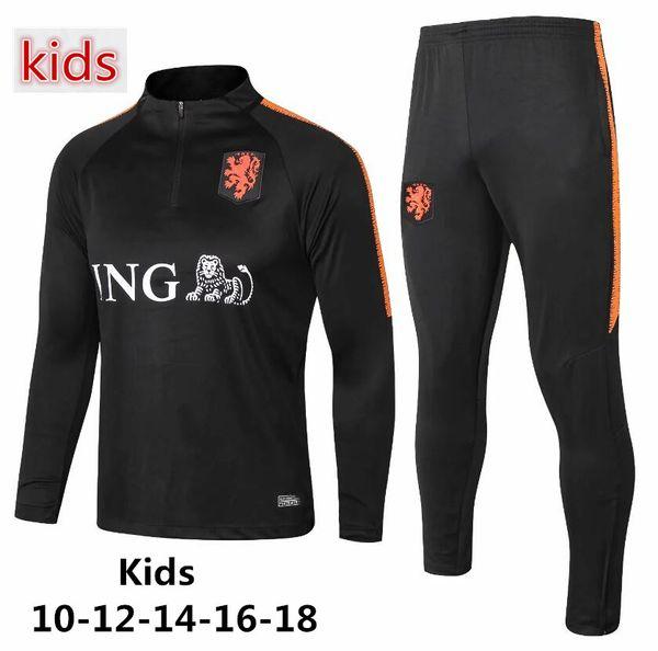 Crianças Copa do Mundo de futebol Da Holanda jaqueta 2018-2019 MEMPHIS VAN DIJK VIRGIL DE LIGT V. PERSie DE JONG terno de treinamento de futebol Atacado