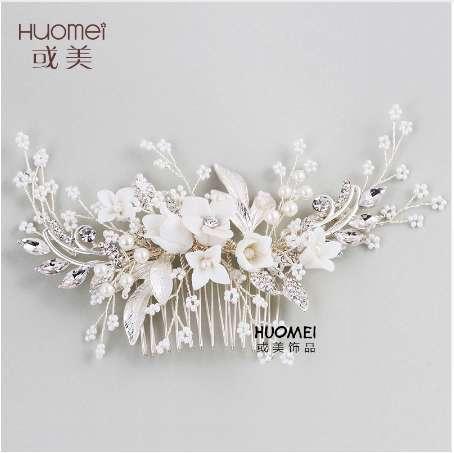 Beautiful Bride Headwear Wedding Dress Hair Comb New Pattern Marry Ornaments Gorgeous Bridal Accessories Elegant Hair Jewelry