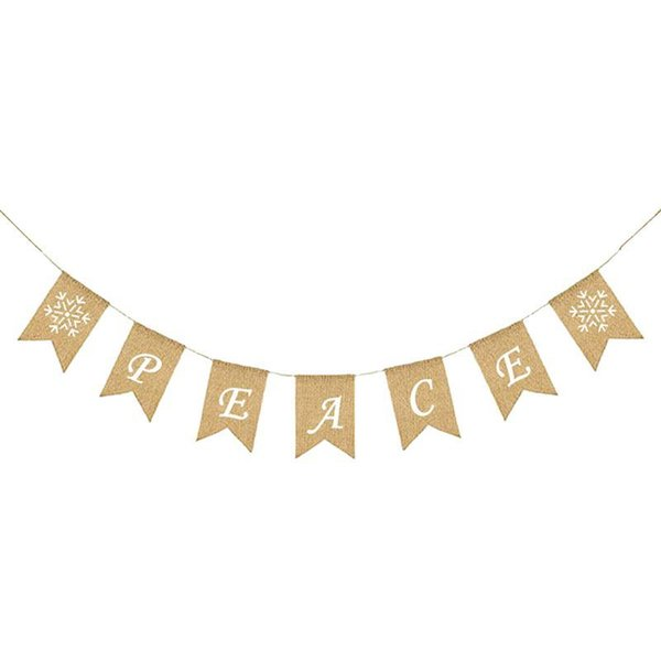 Burlap Banner Swallow-tailed Flags Bunting Banner Hanging Swirl Party Supplies Decorations