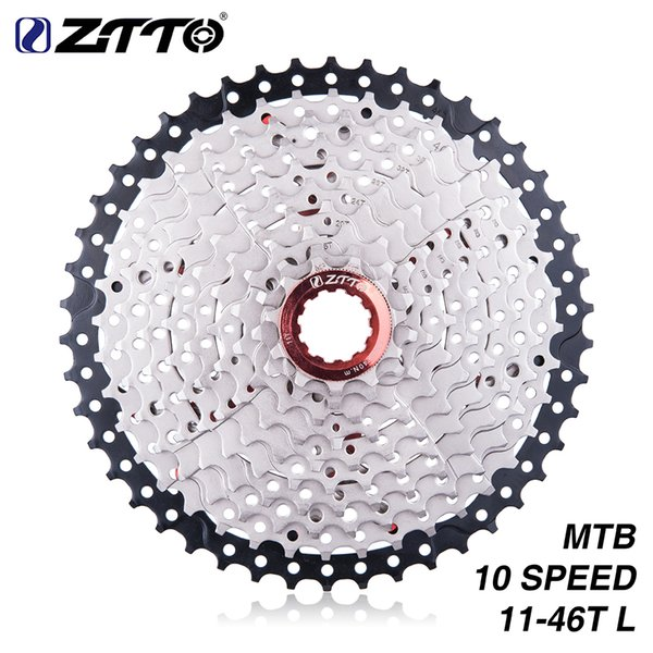 ZTTO HITO MTB Bike 10Speeds 11-46T Freewheel Shimano Cassette Wide Ratio Bicycle Cased Gear for parts m6000 m590 m610 m780 X7 X9