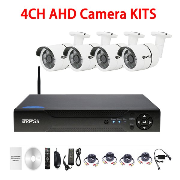 Six Array infrared Led 5mp/4mp/2mp/1mp Waterproof 4CH 4 Channel WIFI AHD CCTV DVR Surveillance Security Camera Kits FreeShipping