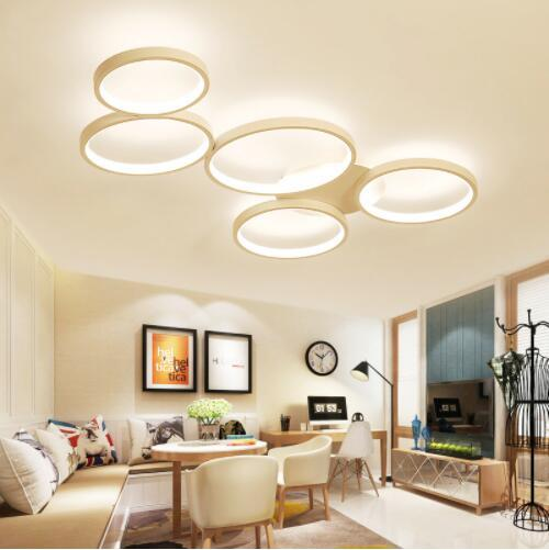 2019 Circular LED Ceiling Lights 5 Rings Ceiling Chandeliers Dimmable Flush  Mount Ceiling Light Circular Lamp For Living Room Kitchen From Zidoneled,  ...