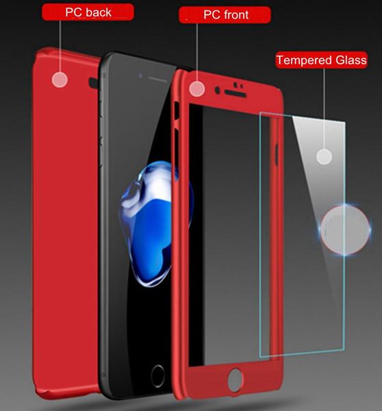 Abdeckungs-Schutz des Abdeckungs-10sets 360 Grad-voller Abdeckung mit hartem PC des Hartglas-matten Abdeckungs-Falles für iPhone X / 8/7/6