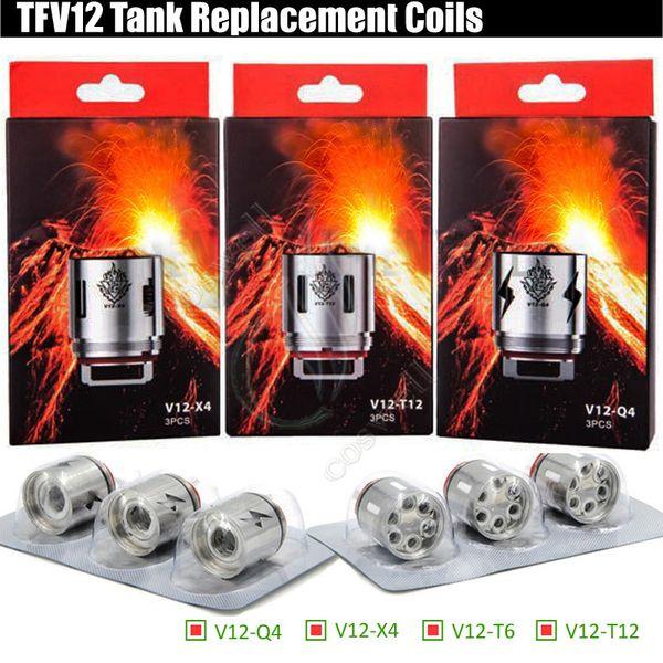 TFV12 V12-T12 V12-T6 V12-X4 V12-Q4 Replacement Coils TFV Prince Tank Atomizer Rebuildable core Head Quadruple Coil e cigarettes Vape vapors