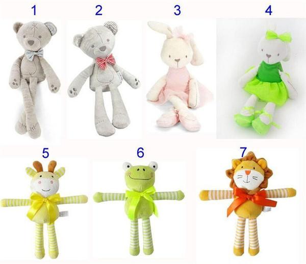 42 cm (16.5 pulgadas) Kids Easter Rabbit bear Peluches Bebé Blanco y Beige Suave Conejito Durmiendo muñeco de peluche Juguetes para niños pequeños Regalo de los niños A08