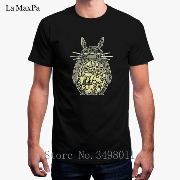 Top Qualité T-shirt Pour Les Hommes Ami Voisin Totoro T-shirt De Base Solide O Cou Cool Homme T-Shirt Hommes Euro Taille S-3xl Hip Hop