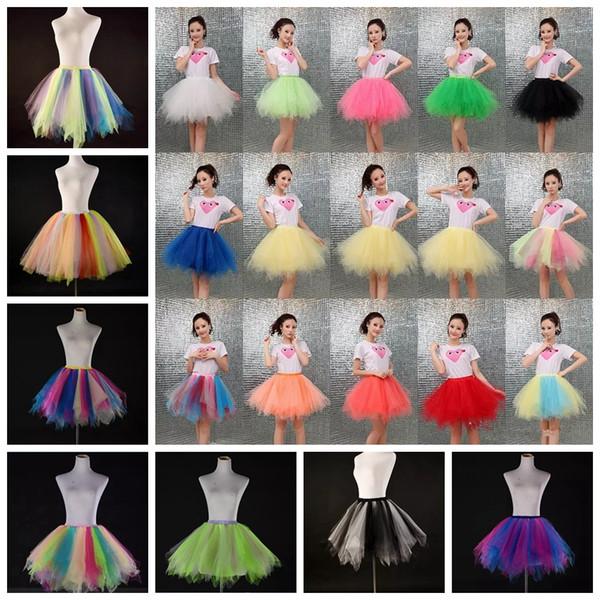 Süßigkeitfarbe Mehrfarbenhalblängenleistung flaumige Ineinander greifenrock neue Art und Weise große Mädchenfrauen-Ballettröckchenkleid-Tanzkostüme MMA913 30pcs