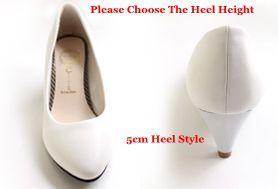 White 5Cm Heel High