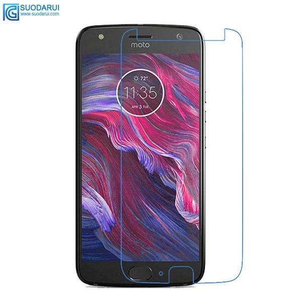 Für Motorola Moto X4 gehärtetes Glas Displayschutzfolie gute Qualität 0,26 mm 2.5D 9H genaue Loch Film mit Kleinpaket