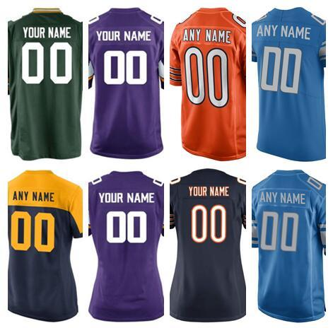 sports shoes 9e637 0713e Custom Minnesota Detroit Bears Lions Vikings Packers American Football  Jerseys Kids Women Men Vapor Untouchable Color Rush Jersey Stitched UK 2019  ...