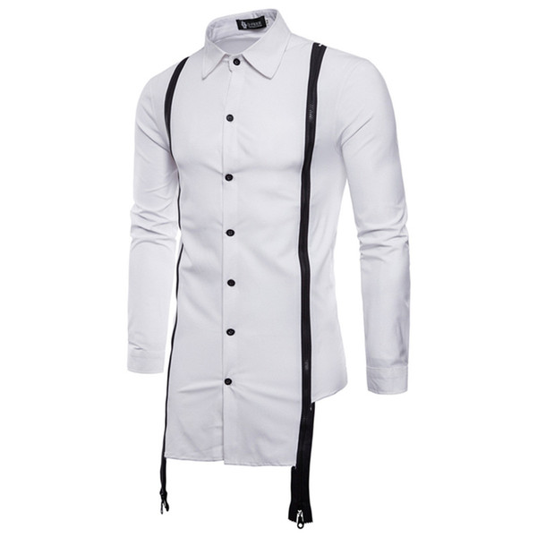 Long Sleeve Shirt Mens Long Sleeve Oxford Formal Strappy Casual Suits Slim Fit Tee Dress Shirts Casual Slim Chemise Homme
