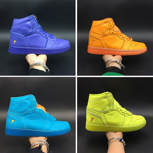 newest e602b bdfe0 Basketball Shoes 1s Og Gatorade Blue Purple Orange 2018 New Fashion Top  Quality Mens Import Edition Sports Running Shoes Women Basketball Shoes Men  ...
