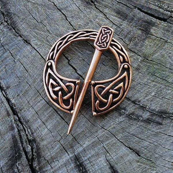 Hatteberg Brooch Viking Bronze Hollow Belt Buckle Spiral Brooch Cloak Pin Clasp Brooches Retro Medieval Norse Jewelry