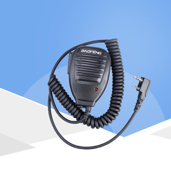 2 Pin PTT Speaker Mic for Kenwood BAOFENG UV-5R BF-888S Buxun TYT PUXING QUSHENG Ham Radio Walkie Talkie KMC-37