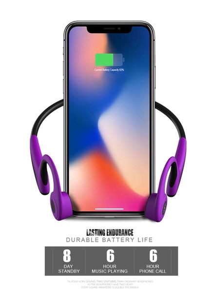 Bluetooth 5.0 S.Wear Z8 Fone de Ouvido Sem Fio Condução Fone De Ouvido Fone De Ouvido Esporte Ao Ar Livre com Microfone Com Caixa