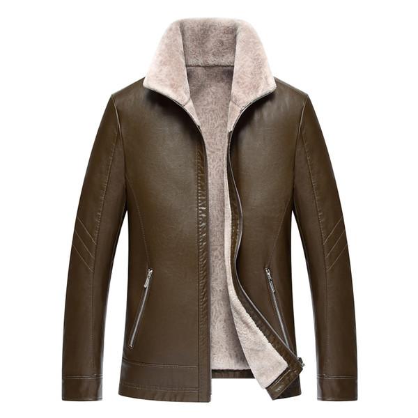 1721 nouvelle mode 2017 homme vêtements d'hiver fourrure manteau veste en cuir véritable cachemire épaississement veste