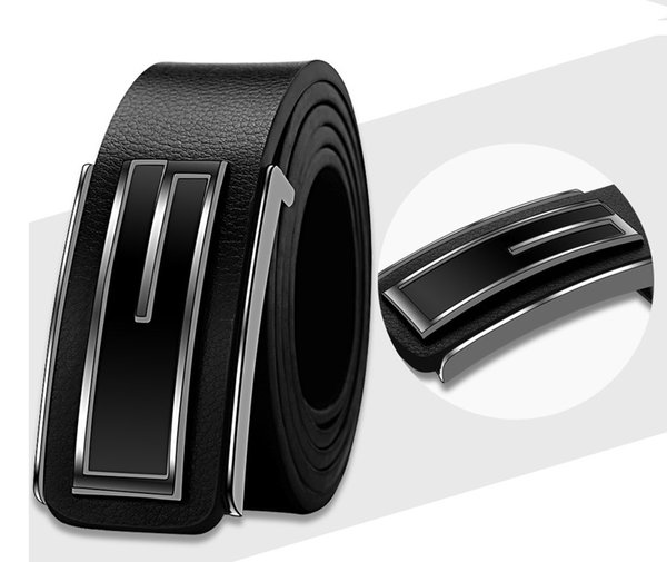 New Fashion Mens Business Belts Luxury Ceinture Buckle Genuine Leather Belts For Men Waist Belt with gift box Free Shipping in good price
