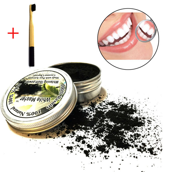 top popular Nature Bamboo Toothpaste Activated Charcoal Tooth Powders Cleaning Teeth Plaque Tartar Removal Coffee Stains 2021