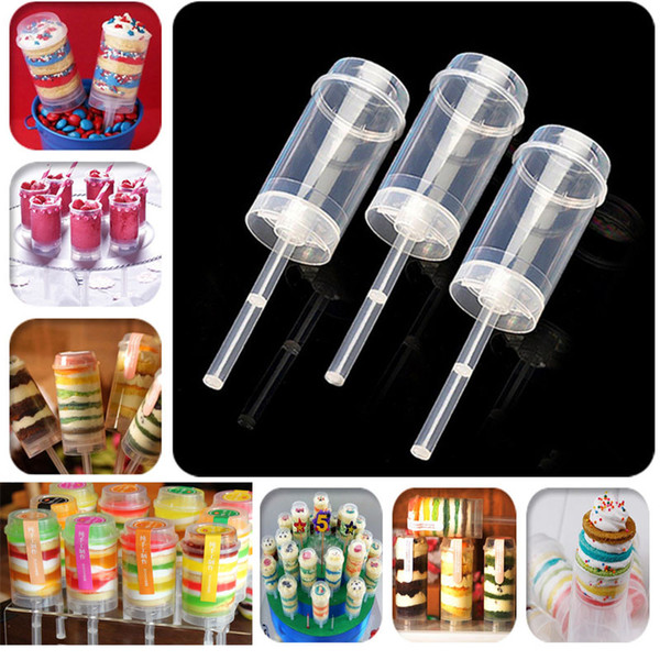 Newest Cake Push Pop Containers Baking Addict bareware Clear Push-Up Cake Pop Shooter(Push Pops) Plastic Containers HH7-1117