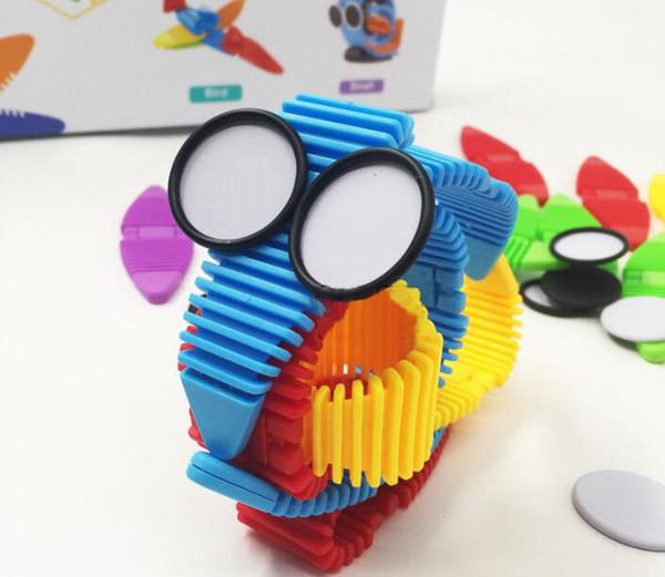 34 pcs kit de construção magnética novidade flexível silicone blocos de construção mix colorido tiras magnéticas toys kids toys