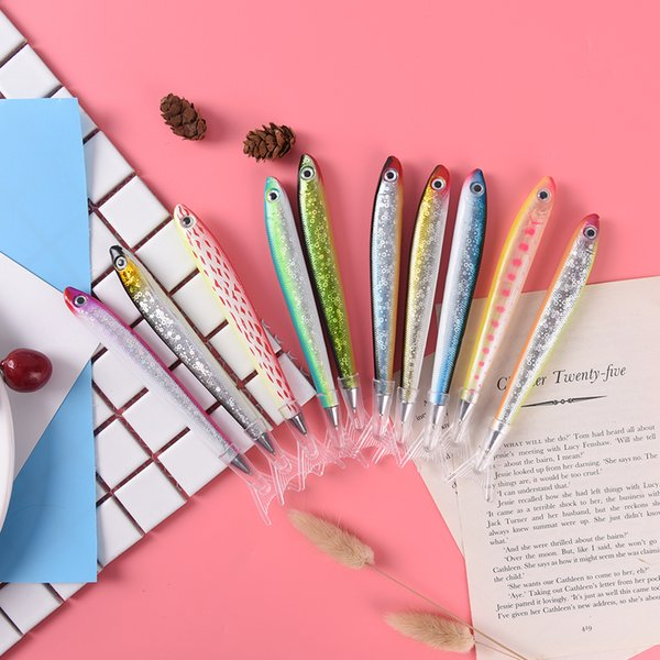2X Creative Ocean Fish Pattern Ballpoint Pen Signature Pens for Office School