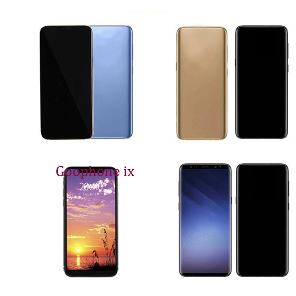 Unlocked Goophone 9 plus S8+ S8 Plus iX i8 Plus 1GB 4GB Show Octa Core 4G LTE android 7.0 3G Cellphone Sealed Box