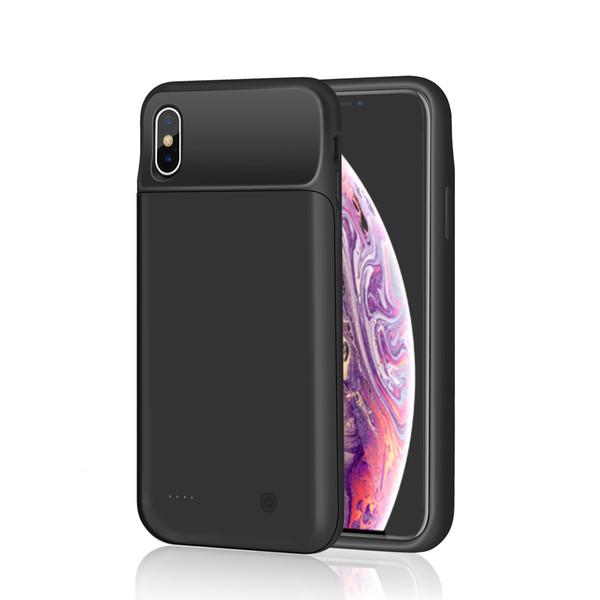 4000mAh para iPhone XS Max Funda de batería de silicona externa Cargador de banco Carcasa de respaldo