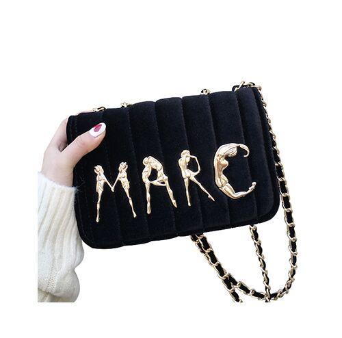 2018 bolsos de terciopelo mujer bolsos de las señoras marcas famosas bolso femenino famoso Crossbody de la alta calidad bolsos de hombro de la cadena Sac un bolso de mano principal
