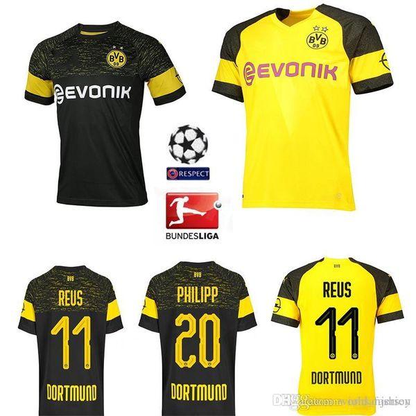 timeless design ddc87 0b8ab 2018 2019 Good 19 Bundesliga Fc Borussia Dortmund Jersey Men Soccer 11  Gotze 11 Reus 22 Pulisic 23 Kagawa 33 Weiglfootball Shirt Large Size S 4xl  From ...