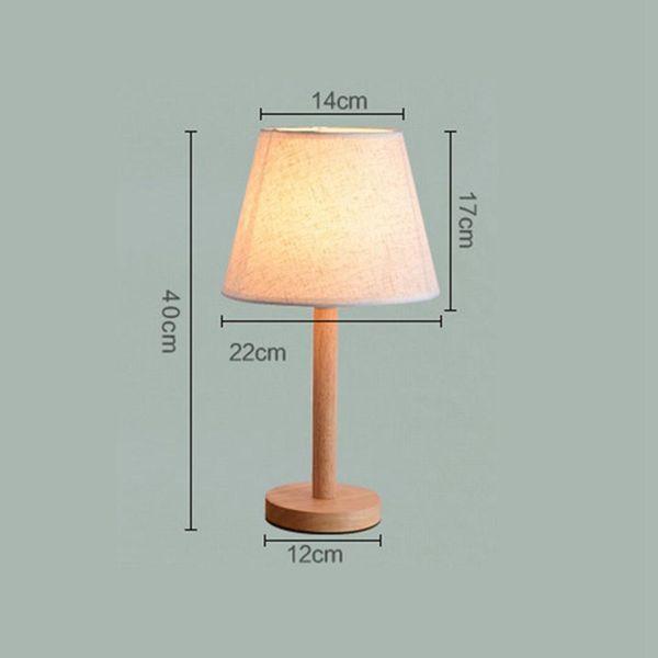 Creative Modern Japanese Wood Linen Bedside Minimalist Table Lamp E27 AC 110V 220V US EU Plug Student Table Lamp Bedroom