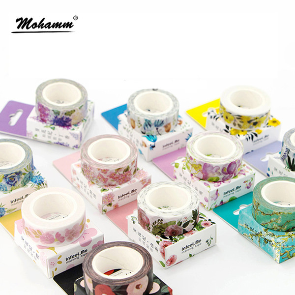 best selling Cute 2016 Plants Flowers Japanese Masking Washi Tape Decorative Adhesive Tape Decora Diy Scrapbooking Sticker Label Stationery