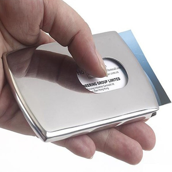 Hot sale High Quality Stainless Steel Business Name Card Holder Cover Solid Metal Wallet Box Business Card Holder Card Case