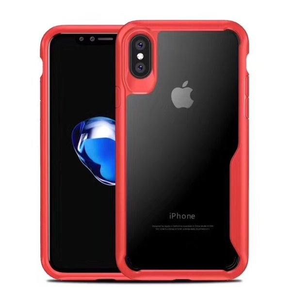 Shockproof Transparent Case For iPhone Xr Xs Xs Max 8 Plus PC TPU Case Armor Hybird Clear Back Cover For Samsung S8 S9Plus