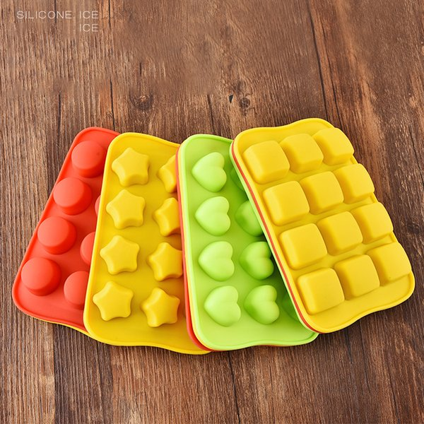 10.5*16cm 12-Grids 4 Designs Ice Cubes Silicone Ice Cream Tray Mold Maker Pudding Gadgets 3pcs/lot