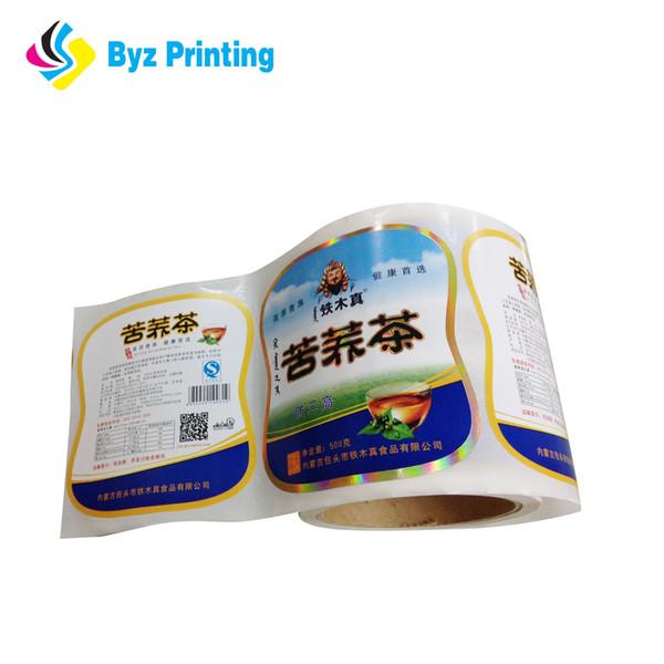 Custom logo sticker paper adhesive labels printing roll easy peel off