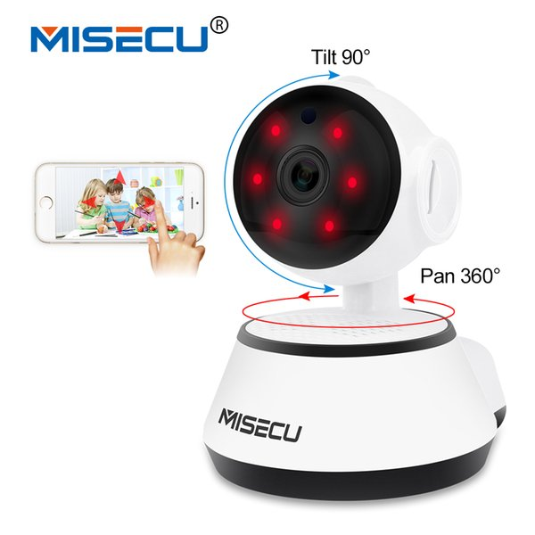 MISECU Pan Tilt Wifi Audio Record Full 360 degree rotation SD Card Surveillance 720P Baby Monitor IP Onvif P2P Email alert Night