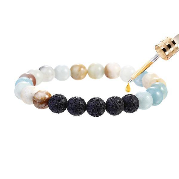 Amazon Pierre Perles Bracelet Volcanique Pierre Essential Huile Diffuseur Bracelets de guérison de yoga Équilibre Strand pour Hommes Femmes