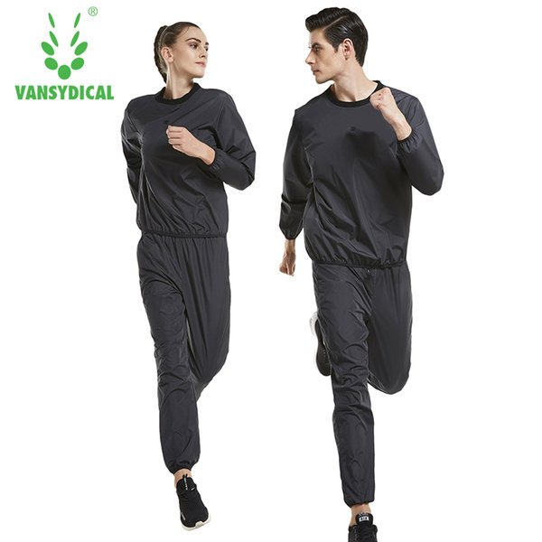 Vansydical Running Set Hot Sweat Sports Suits Men Women Gym Clothes Jogging Workout Lose Weight Slimming Sweating Sportswear