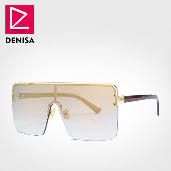Óculos de sol de ouro