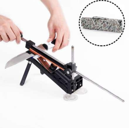 Professional Knife Sharpener Kitchen Blade Fix-angle Sharpening Tool with 4 Stones