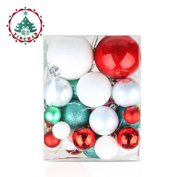 wholesale 50pcs Christmas ball Decorations for home Christmas Tree Decoration Ball Ornaments Pendant Accessories Xmas Gifts 2019 new