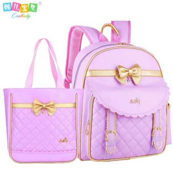 Hot pu leather disposable backpack bag girl 1-3-6 grade 6 and 12 years water proof children backpack girls school bag C18111901